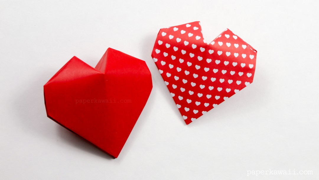 Origami 3d Puffy Heart Instructions Paper Kawaii