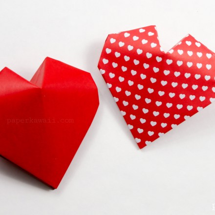 Super Easy Origami Heart Instructions via @paper_kawaii