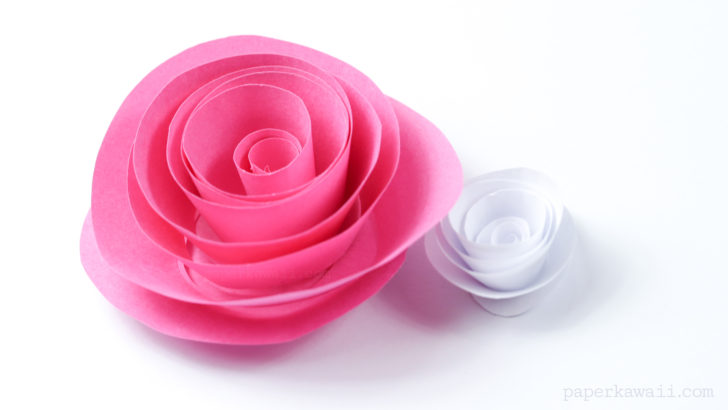 Easy Papercraft Rose Instructions via @paper_kawaii