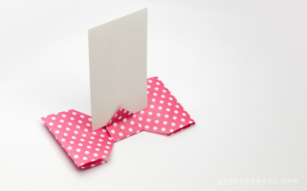 Origami Bow Card Holder Instructions