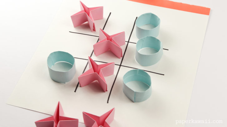 Easy Origami Naughts and Crosses Tutorial