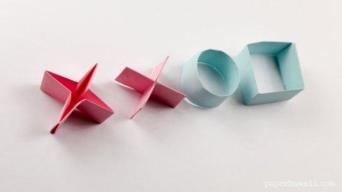 Easy Origami Naughts & Crosses Tutorial via @paper_kawaii