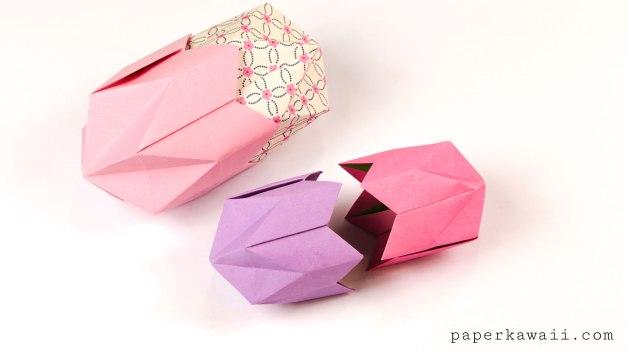 Origami Pentagonal Box Variations Tutorial