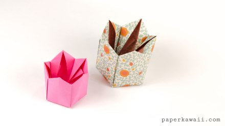 Pentagonal Origami Crown Box / Lid Instructions