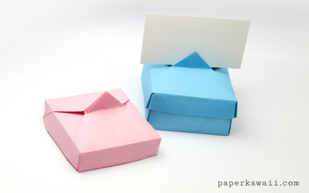 Origami Card Holder Box Instructions