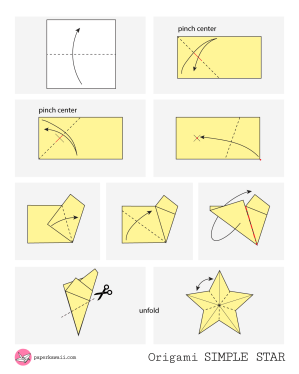 Simple Origami Star - Diagram