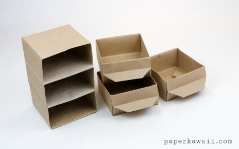 origami pull-out drawers - PaperKawaii