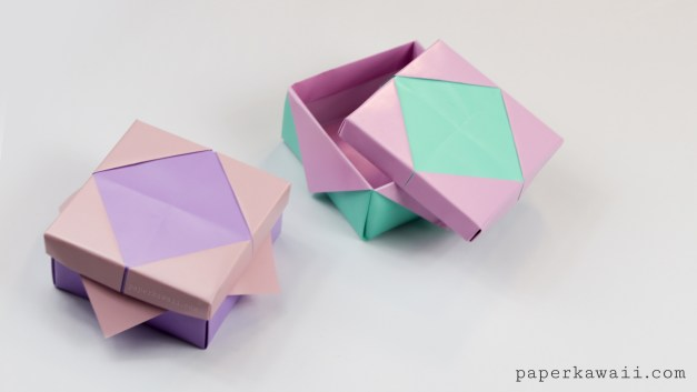 Pretty Origami Frame Lid Tutorial