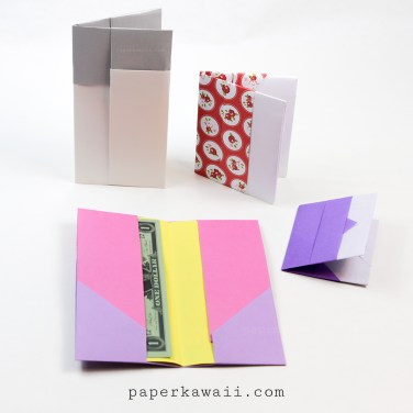 Origami Wallet Instructions – 2 Versions