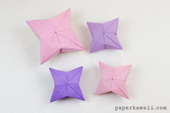 Advanced origami 3d origami puffy star tutorial mightylinksfo
