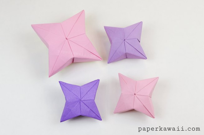 3D Origami Puffy Star Tutorial via @paper_kawaii