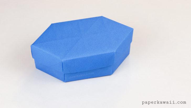 Origami Long Gem Gift Box Tutorial via @paper_kawaii