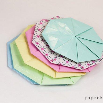 Colourful Origami Tato / Pouch / Coin / Coaster!