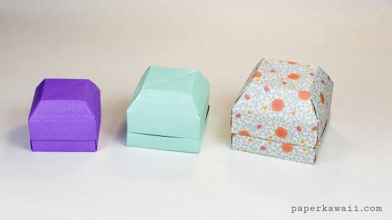 Origami Gem Gift Box Tutorial - Great as a Ring Box! via @paper_kawaii