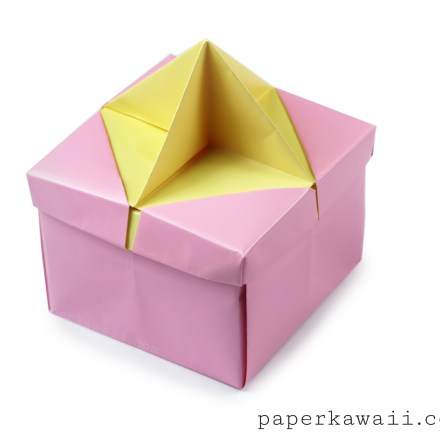Origami Star Handle Insert for the Frame Lid via @paper_kawaii