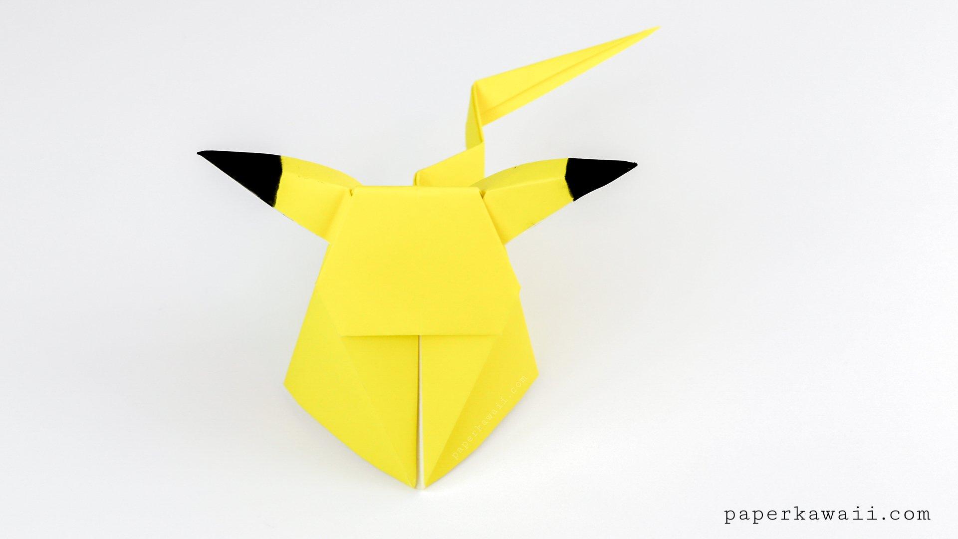 Origami Pikachu Tutorial - Cute Origami Pokemon! - Paper Kawaii