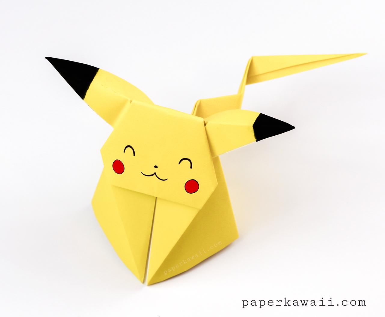 Origami Pikachu Tutorial - Cute Origami Pokemon via @paper_kawaii