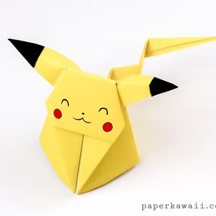 Origami Pikachu Video Tutorial (Advanced) via @paper_kawaii