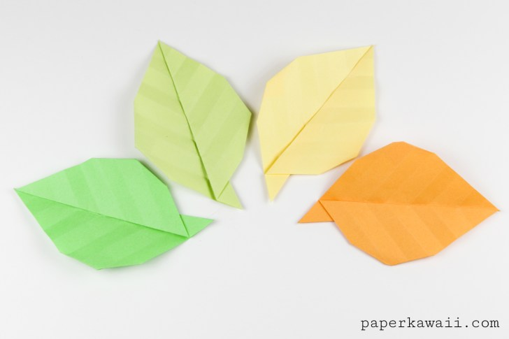 Simple Origami Leaf Instructions - Video Tutorial