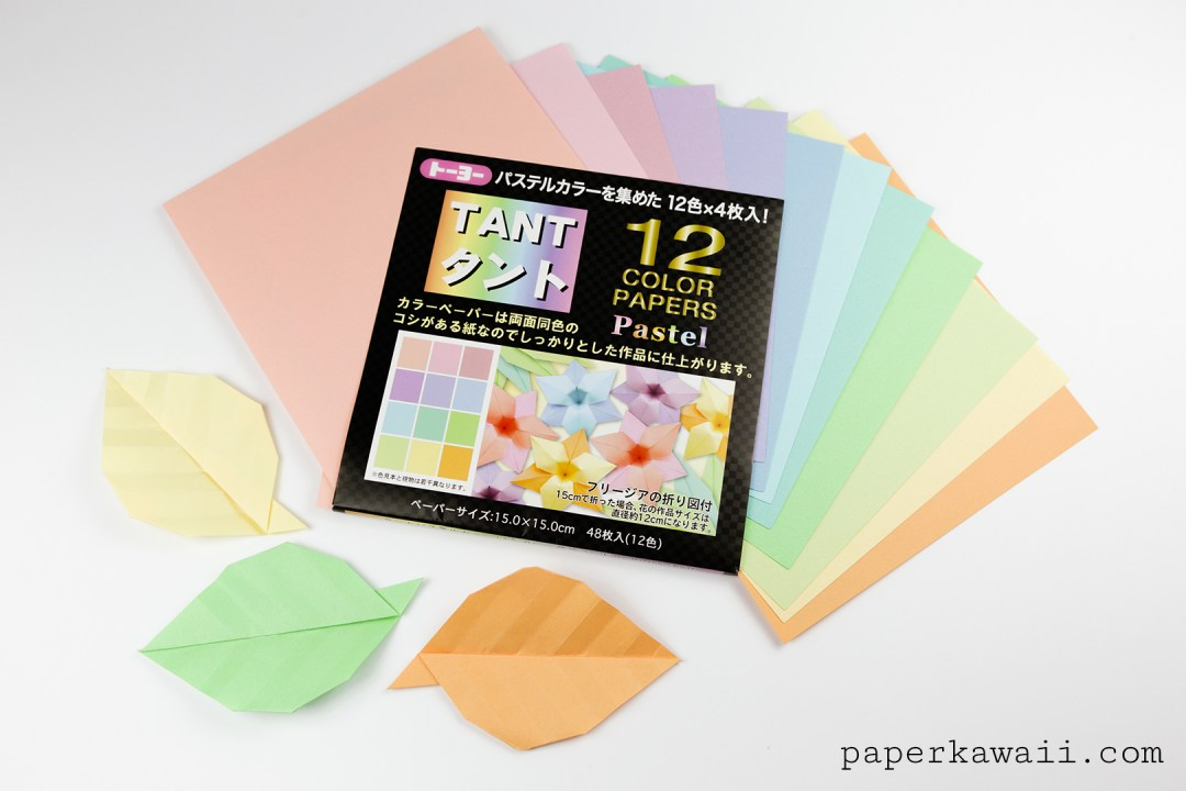 Tant pastel origami paper pack