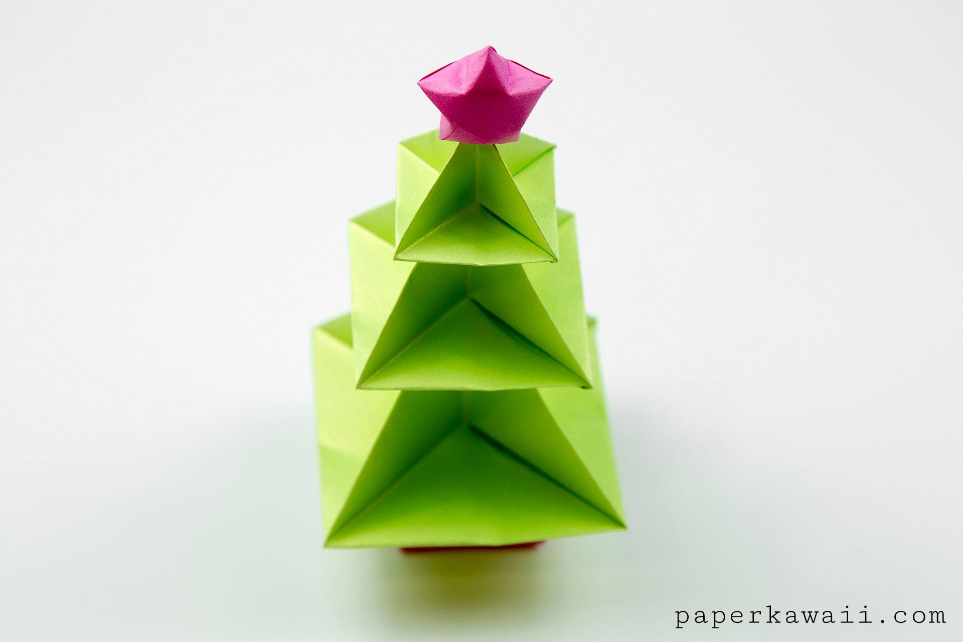 Origami Christmas Tree Tutorial - Paper Kawaii - photo#6