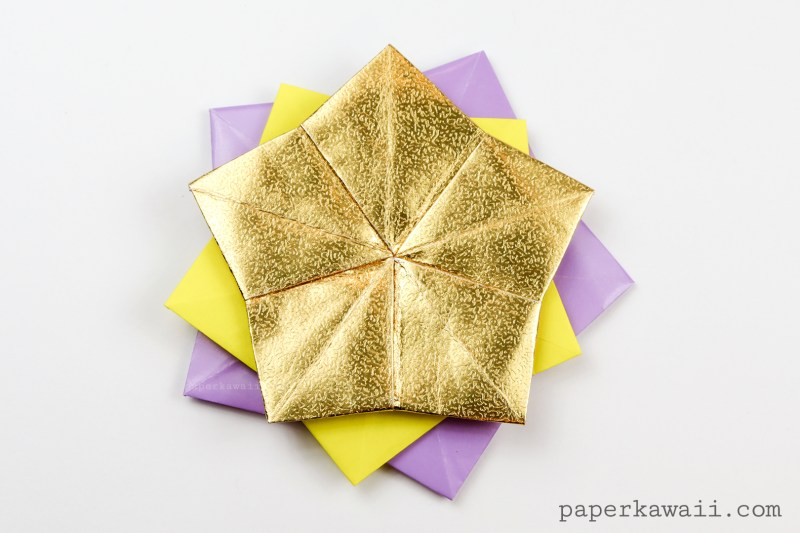 5 Point Origami Star Coaster / Tato Tutorial via @paper_kawaii