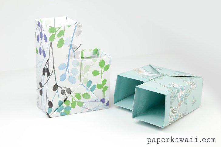 Origami Pencil Pot Tutorial