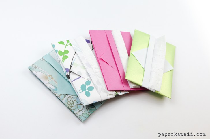 Easy Origami Tissue Holder Tutorial via @paper_kawaii