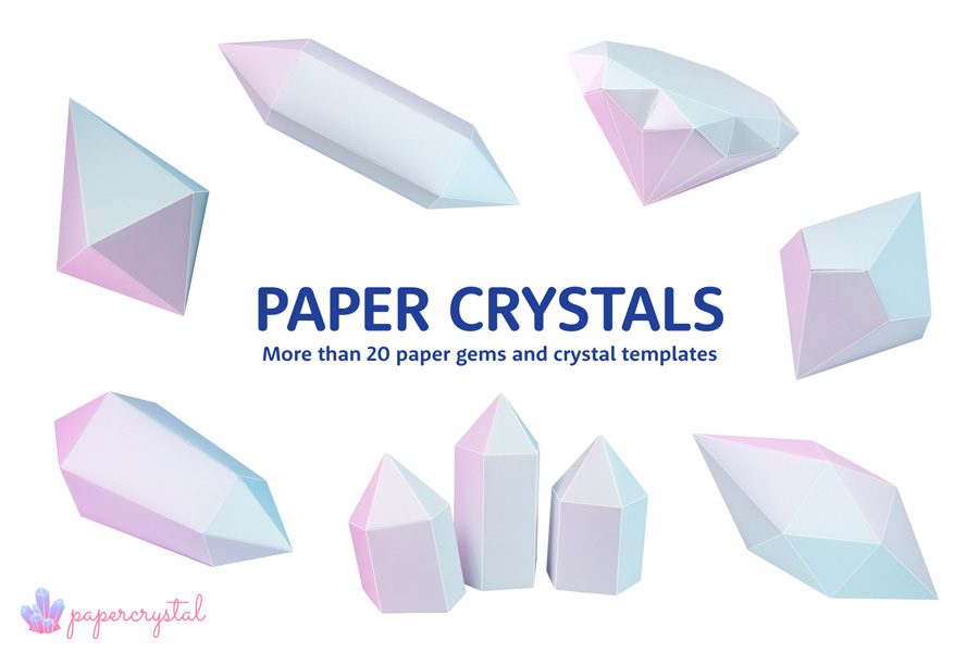 Printable Paper Gems & Crystal Templates via @paper_kawaii
