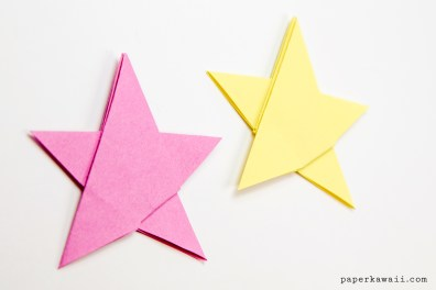 Simple Origami 5 Point Star Tutorial – 1 Sheet