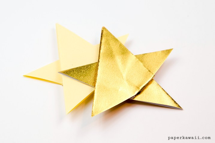 Simple Origami 5 Point Star Tutorial - 1 Sheet