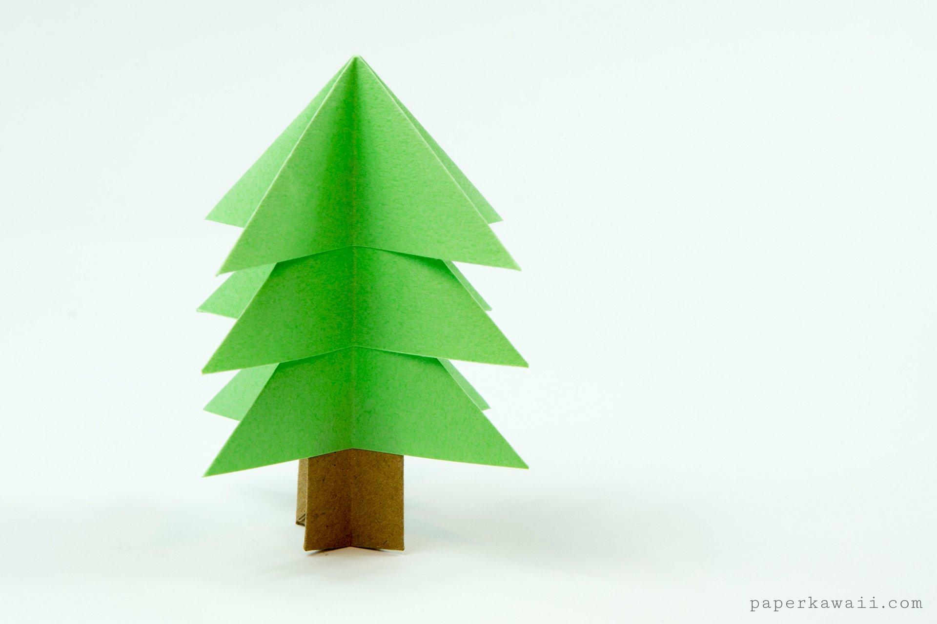 Easy Origami Christmas Tree Tutorial Paper Kawaii