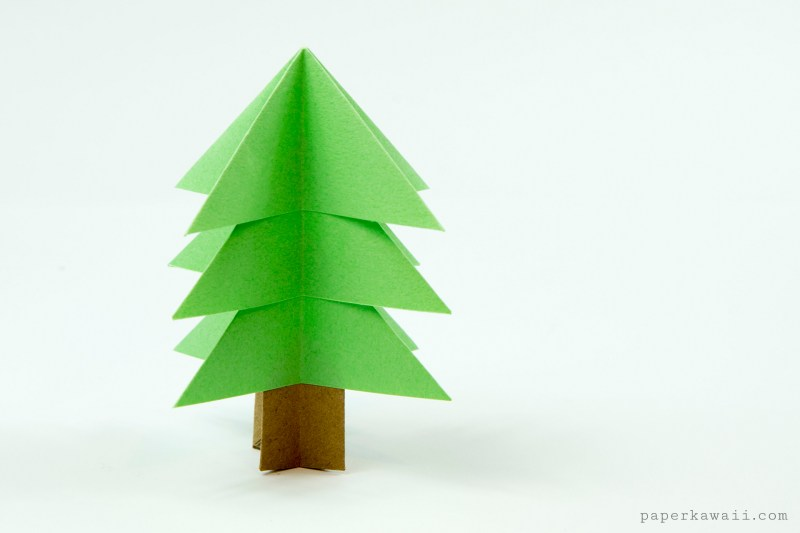 how to make a paper tree stand up