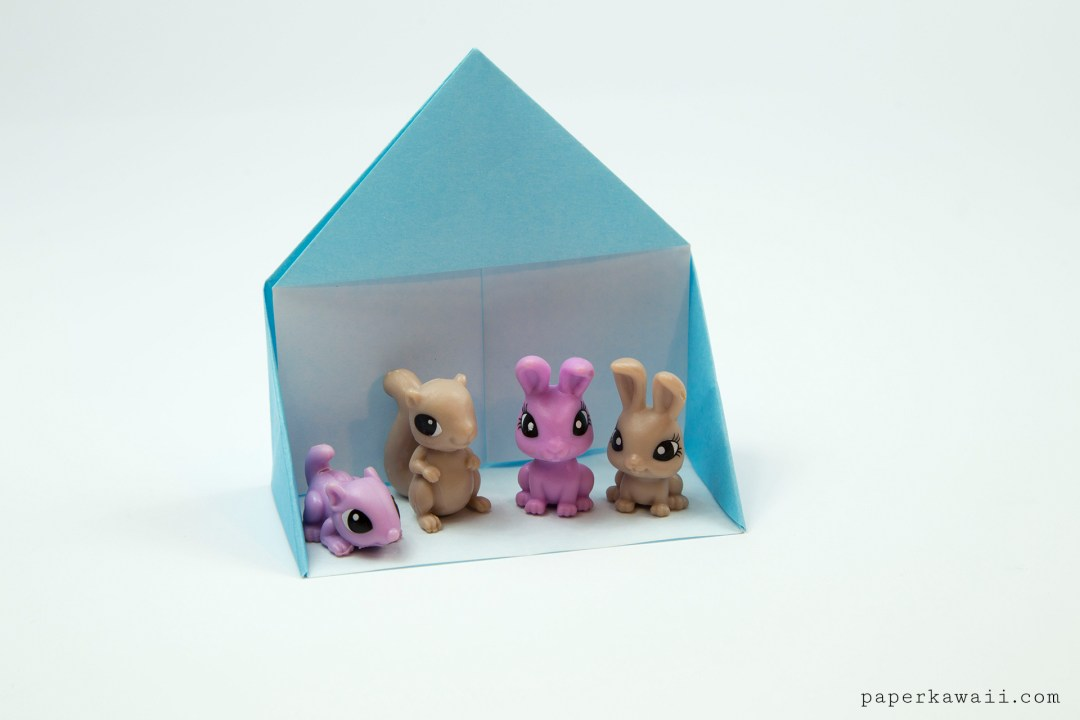 Easy Origami Dollhouse Tutorial - DIY Paper House! via @paper_kawaii