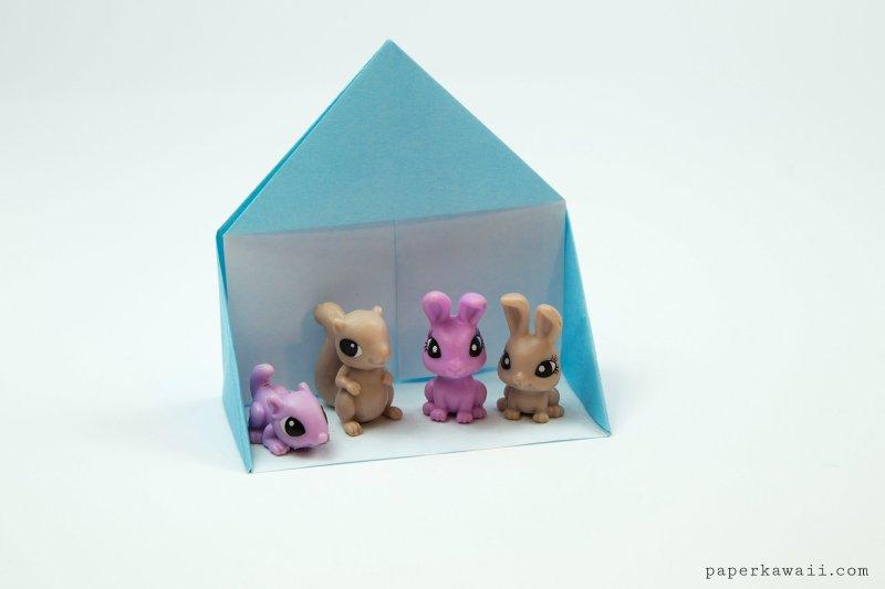 Easy Origami Dollhouse Tutorial - DIY Paper House!