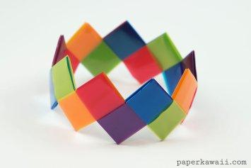 Modular Origami Bracelet Tutorial - Easy & Pretty!