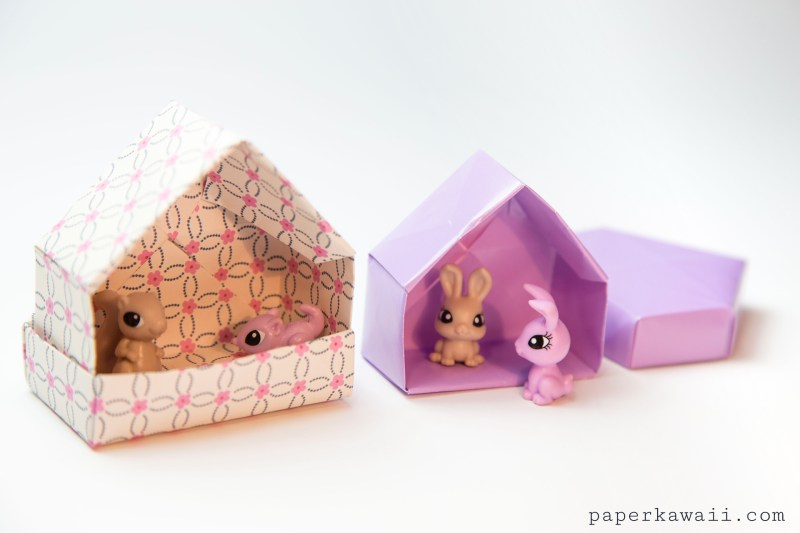 Origami House Box Tutorial - Cute Gift Box via @paper_kawaii