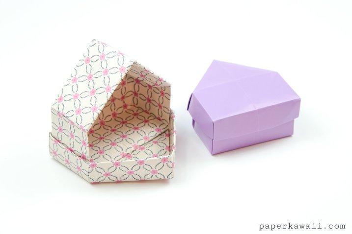 Origami House Box Tutorial - Cute Gift Box