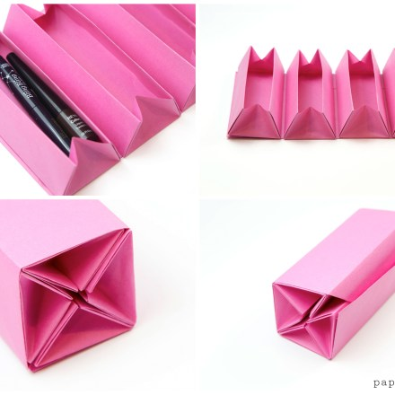 DIY Origami Advent Calendar Box Tutorial via @paper_kawaii