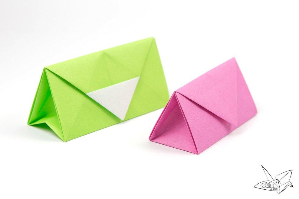 Origami Clutch Bag / Purse Tutorial via @paper_kawaii