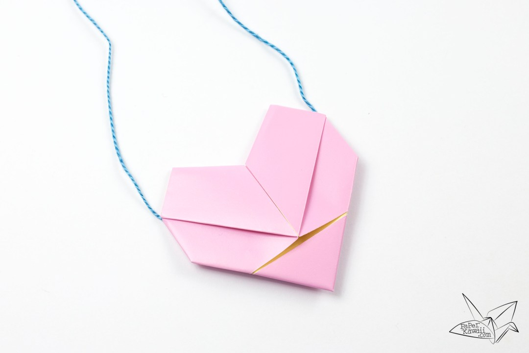 Origami Heart Necklace Tutorial - Heart Letterfold