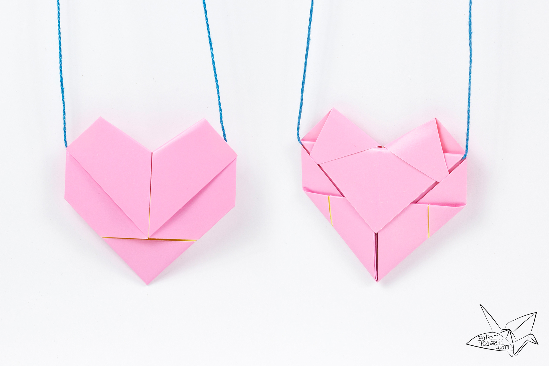 Origami Heart Necklace Tutorial - Heart Letterfold - Paper ... - photo#43