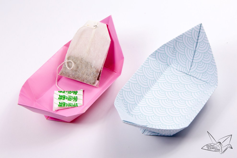 Traditional Origami Tea Plate Tutorial via @paper_kawaii