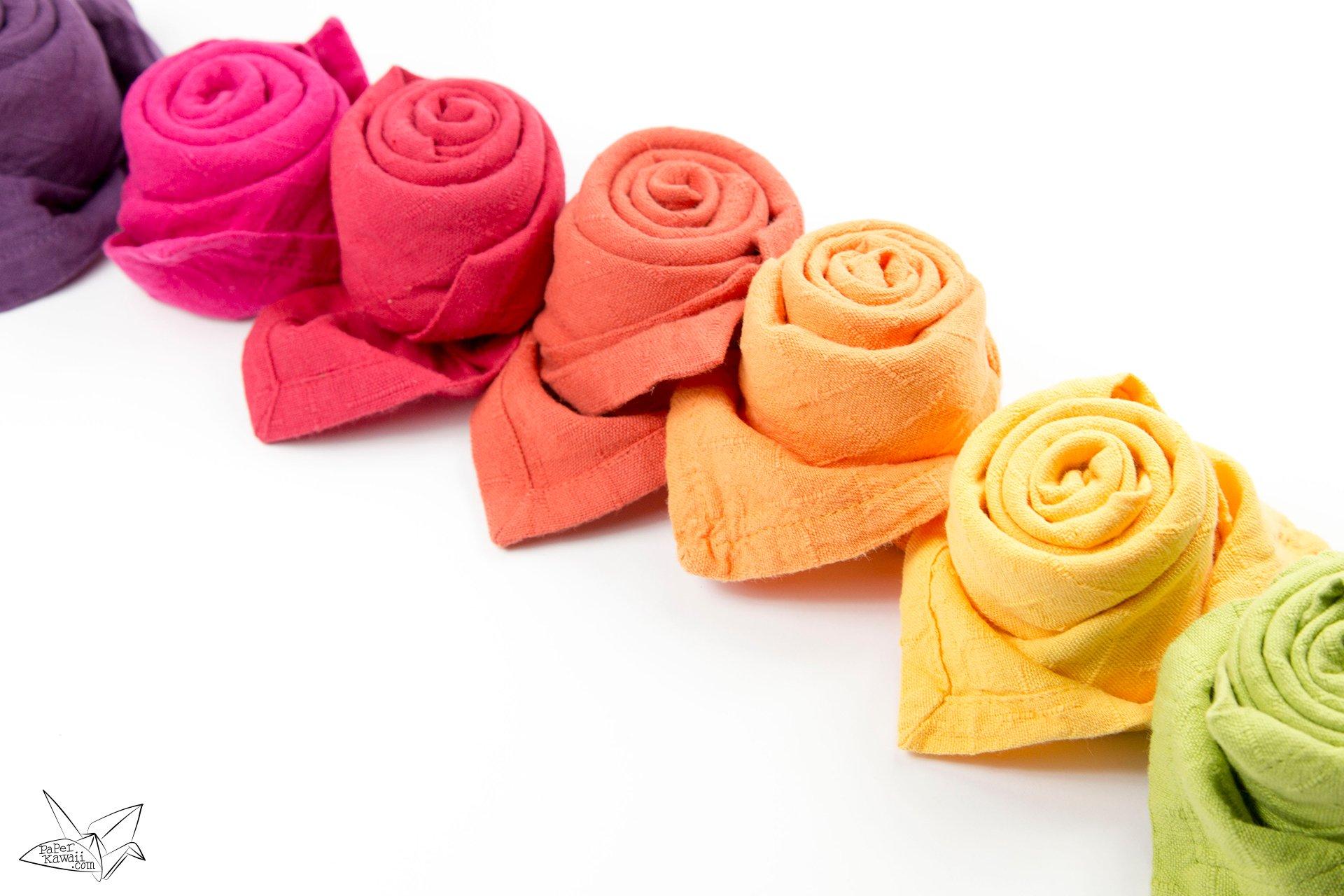 Paper Napkin Flower Folding Kubreforic