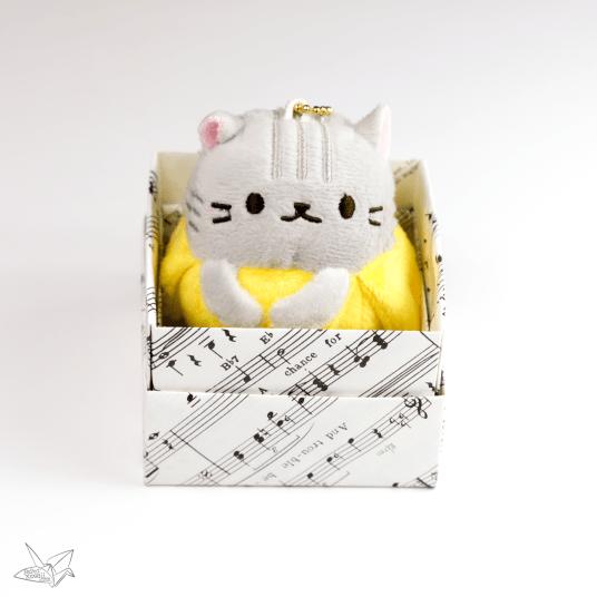 Bananya in an origami box! - Paper Kawaii