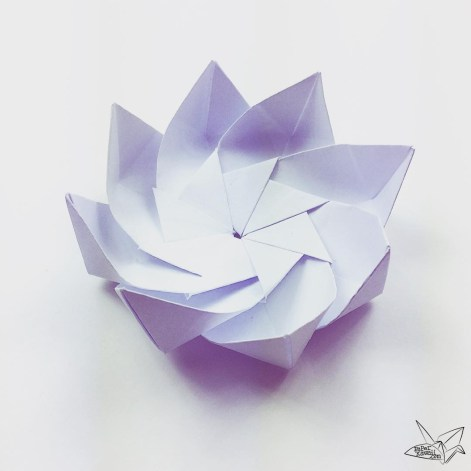 Modular Origami Lotus Flower With 8 Petals Tutorial Paper Kawaii