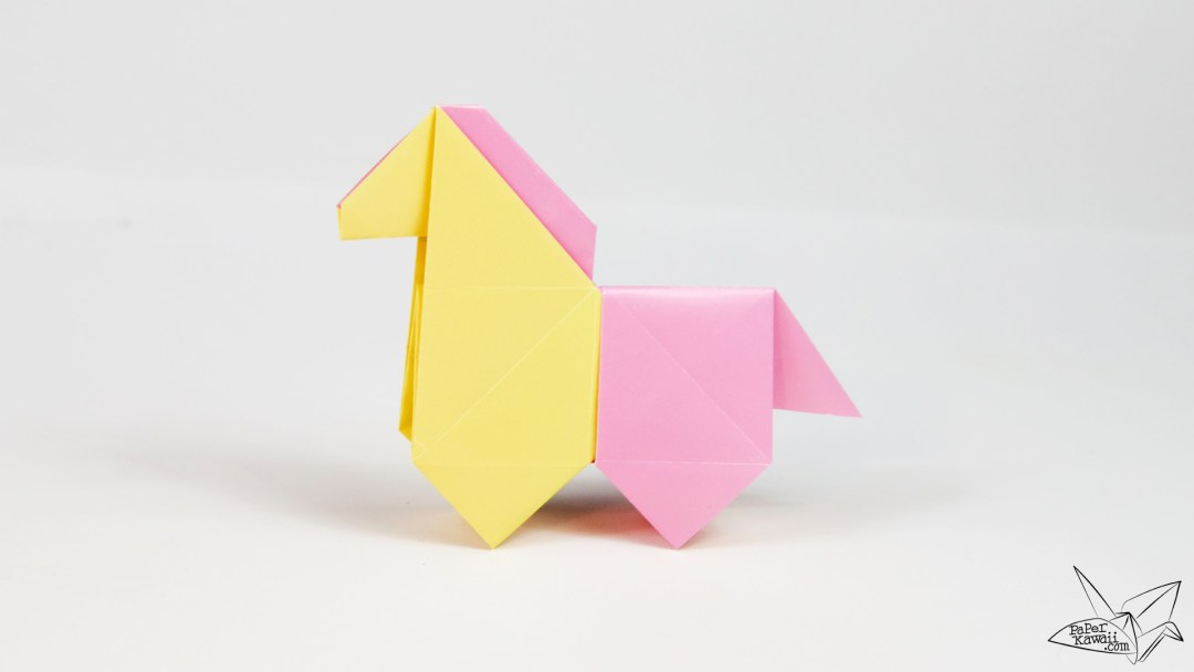Origami Horse Tutorial Cute Origami Pony Paper Kawaii