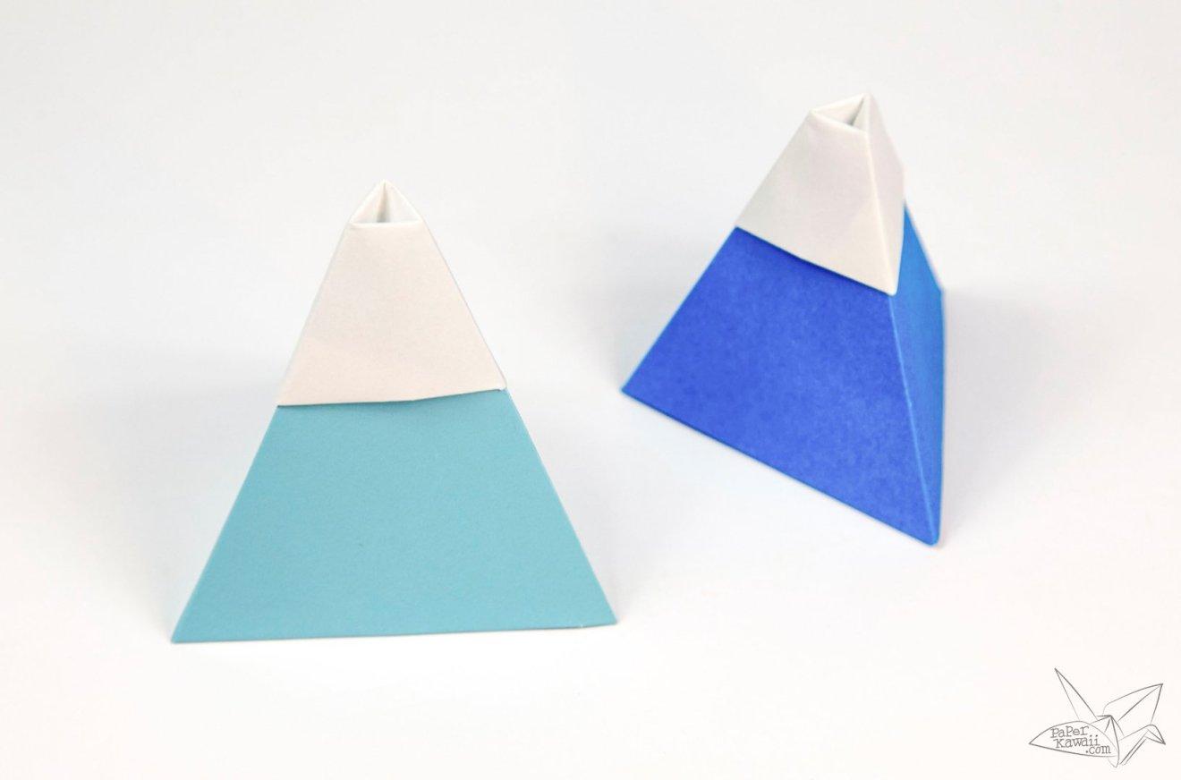 Origami Mount Fuji Tutorial via @paper_kawaii