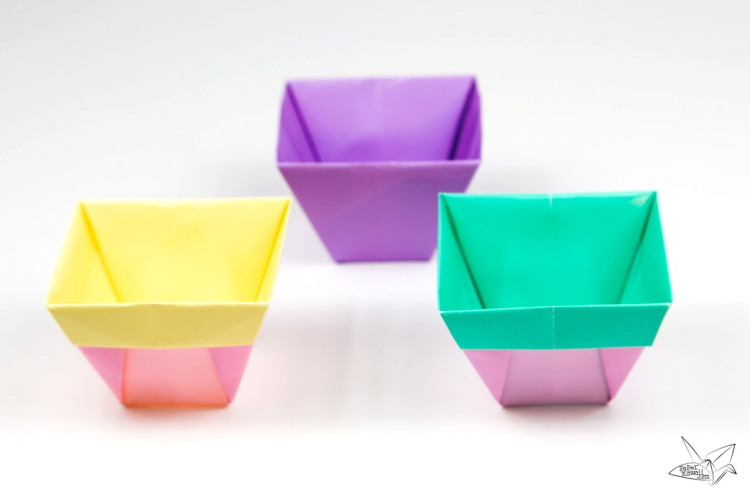 Tapered origami box origami plant pot tutorial paper kawaii tapered origami box origami plant pot tutorial mightylinksfo