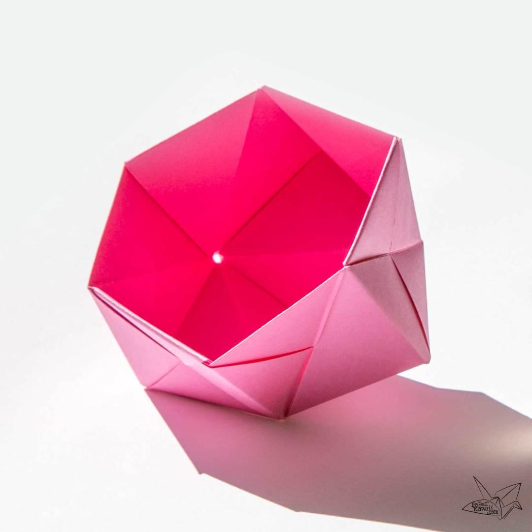 Modular Origami Sonobe Bowl Tutorial via @paper_kawaii